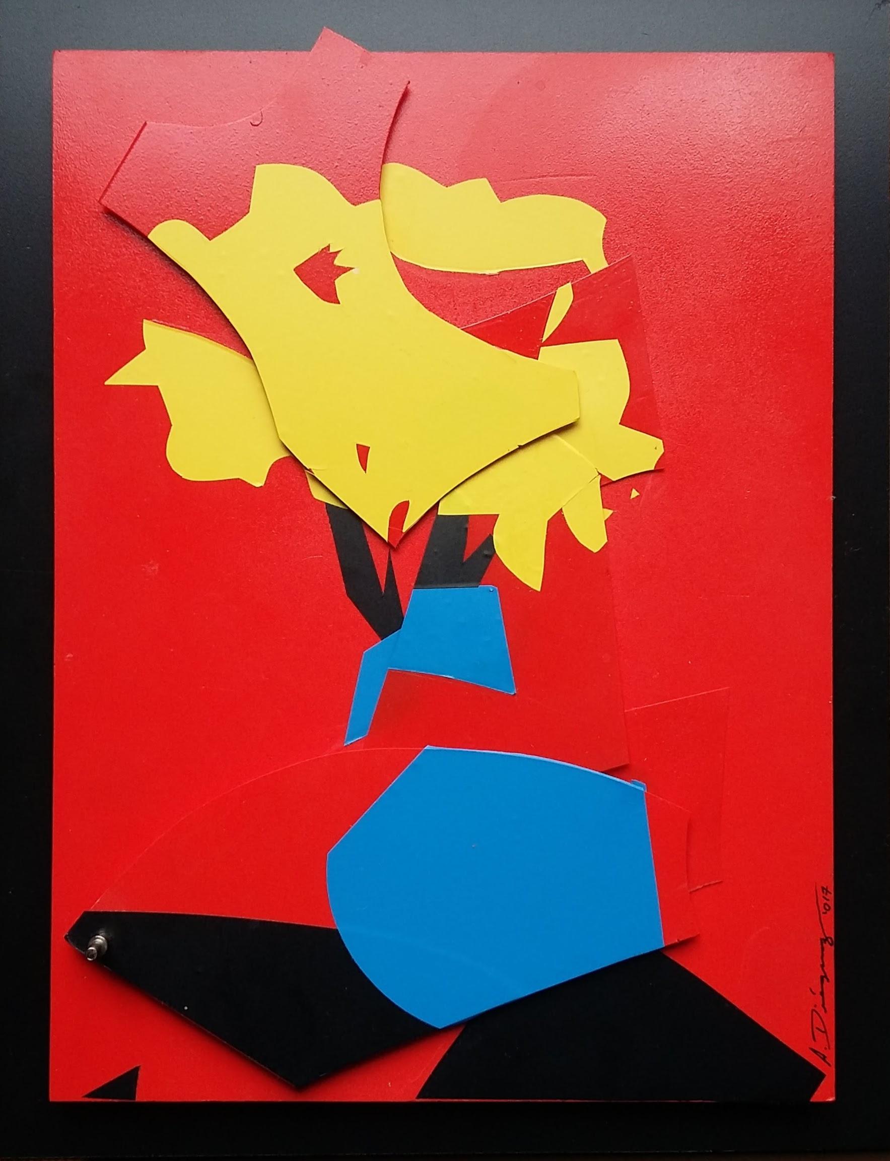 El movimiento como una expresión de arte. El artista logra contrastar la simplicidad y el color