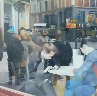 Figuras en la cafetería