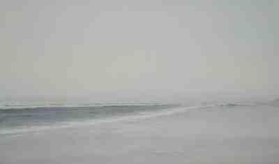 Paseo por la playa-Acuarela-78x130cms.