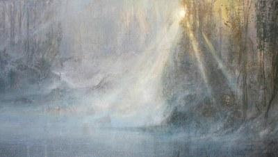 Juegos de luz Acrílico - Tela,40 x 80 cm