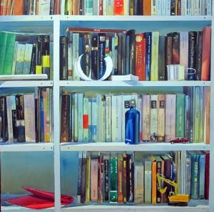 Libros en el estudio 100 x 100 cm. 2015