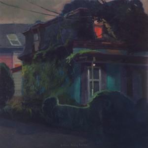 Noche de estudio 40x40 cm Boston Massachussets