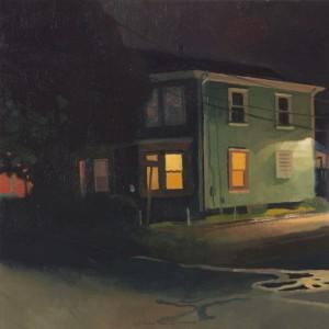 noche en la casa de la esquina 40x40 cm Boston Massachussets