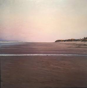 Amanece en la playa II-Óleo-110x110-Bartolomé Junquero