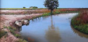 El desague del arrozal