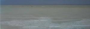 Silenciosa tormenta 40x120cm oleo-tabla