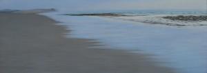 Luz en la playa de Muñir 44x121cm oleo-tabla