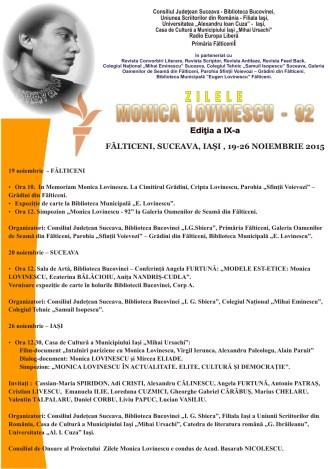 afis generic monica lovinescu 2015