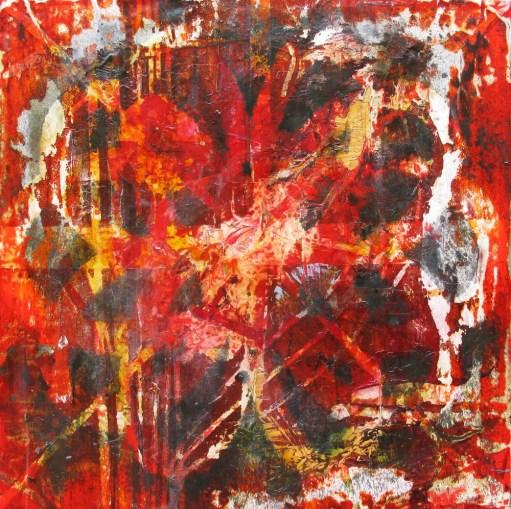 29.- Manuel Garibay, Onement, 2013, tinta y papel sobre madera, 60 x 60 cm