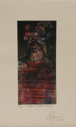 Armando Villegas, Gran Caballero, 2004, grabado PA, 34 x 20 cm (2)