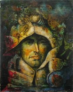 Armando Villegas, Sin título (Personaje), 2000, óleo sobre tela, 50 x 40 cm