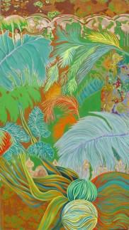 Mariana Pereyra, Flora Tatoo, 2013, óleo sobre tela, 180 x 100 cm