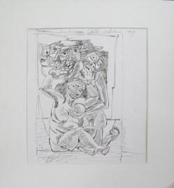 GALERIA OSCAR ROMAN Oswaldo Guayasamín, El camino del llanto, 1959, tinta sobre papel, 34 x 29 cm