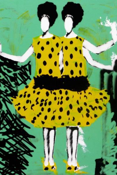Carolina Convers, Ojos que no ven..., 2013, impresión y esmalte sobre acetato y bastidor de tela, 120 x 80 cm