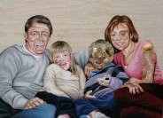Andres Jannou y Agustín Portillo, Sin título, 2015, óleo y collage sobre madera, 100 x 140 cm