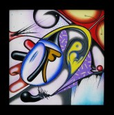 Isz, Humanity –IN-sanity Óleo y acrílico sobre tela, 30 x 30 cm