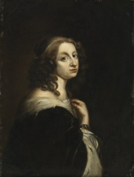 Portrait of Queen Christina, by David Beck around 1647-51 (previously attributed to Sébastian Bourdon). Source: The Royal Armoury, Stockholm.