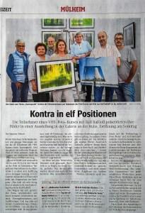 """Ausstellung im Kunstbahnhof Mülheim in der Galerie an der Ruhr 11""""Neue Mülheimer Künstler"""""""