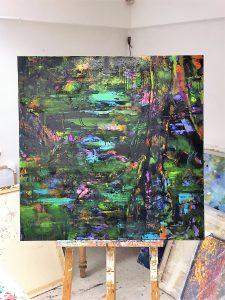 Im Atelier von Dörthe Speetzen - Beispiel der aktuellen Werkreihe