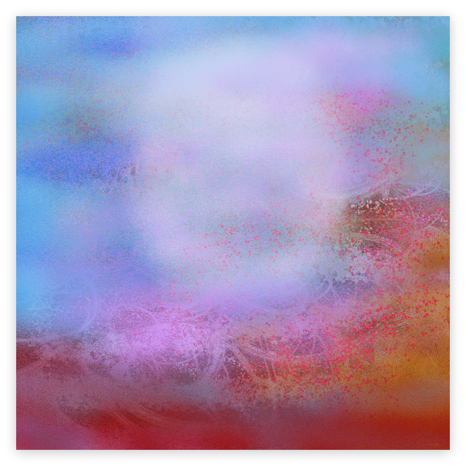 First image of 'A Morning'. Morning of tenderness, Morning tying heaven to earth, Slowly, In the awakening breath. artist: Anne Turlais - Limited edition of 300. Abstract wall decor printed on Dibond. Signed and numbered
