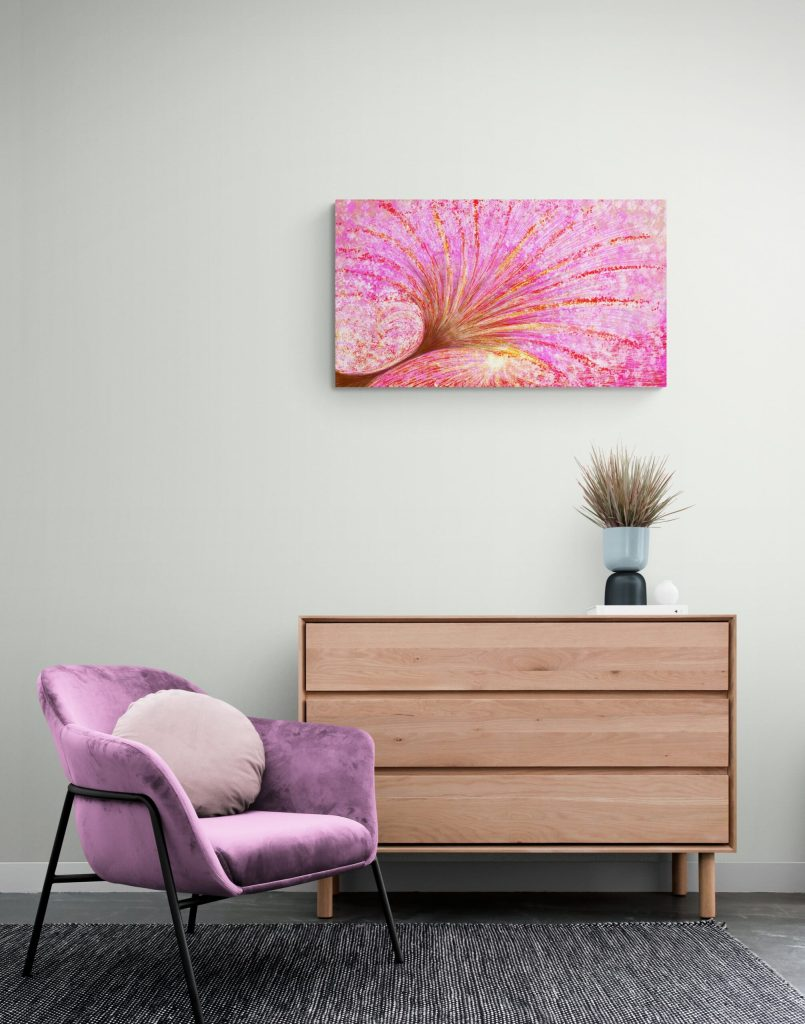 Abstract Floral art print 'Mother's Heart' | Anne Turlais - Abstract floral art print of a Mother's Heart. This limited edition print is available as limited edition- all prints on dibond are hand signed and numbered by the artist.