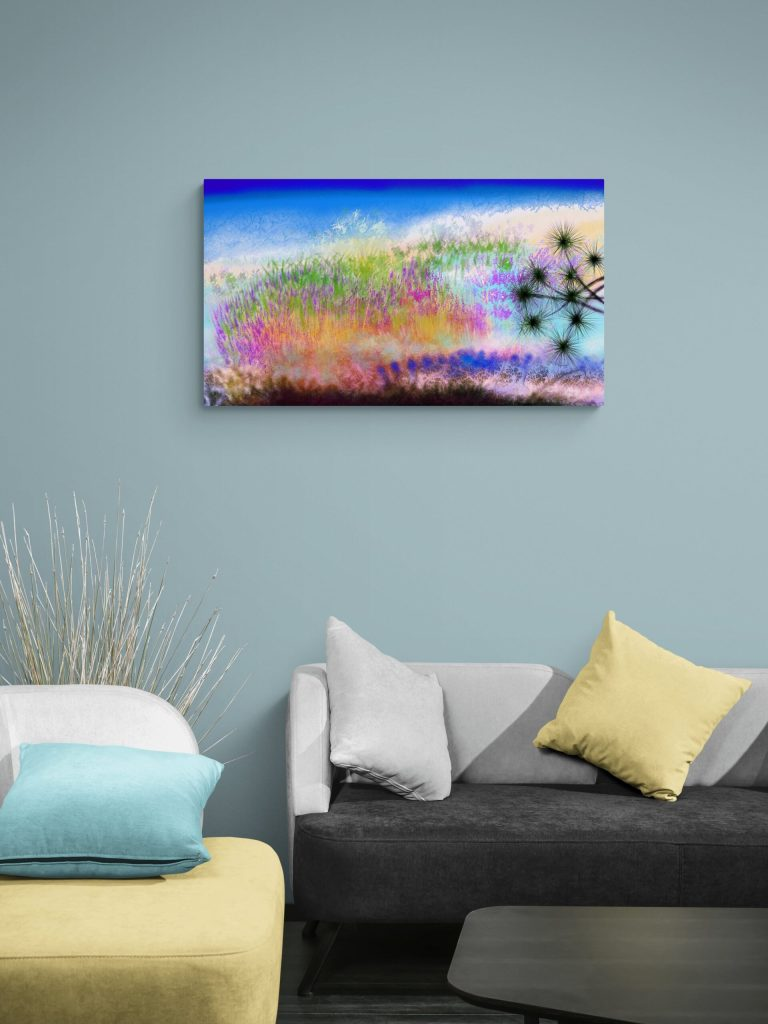 Abstract Sea Artwork 'Wild Beach' is a seafront nature art print completely inspired from the wild beaches of the North Atlantic ocean, from Brittany to be precise. Painted by Anne Turlais and published on Galerie Artwave