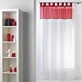 voilage rouge et blanc galerie creation