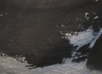 真喜志民子「墨染めの布」展