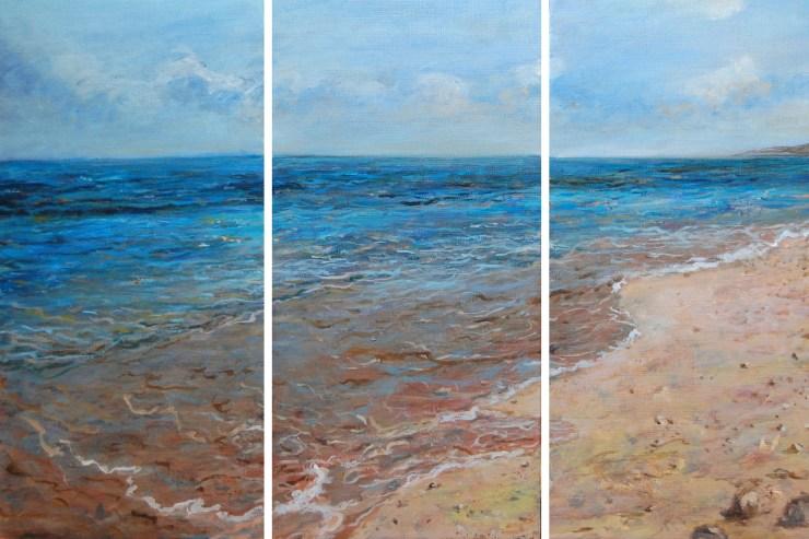 Viaje azul-peinture d'Isabelle Jacq Gamboena