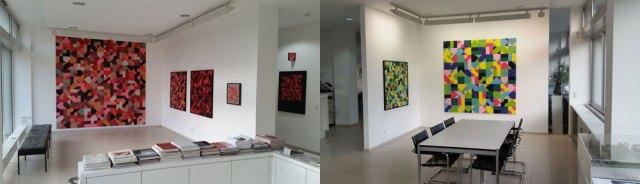 Innenräume der Galerie mit Arbeiten von Jürgen Granzow