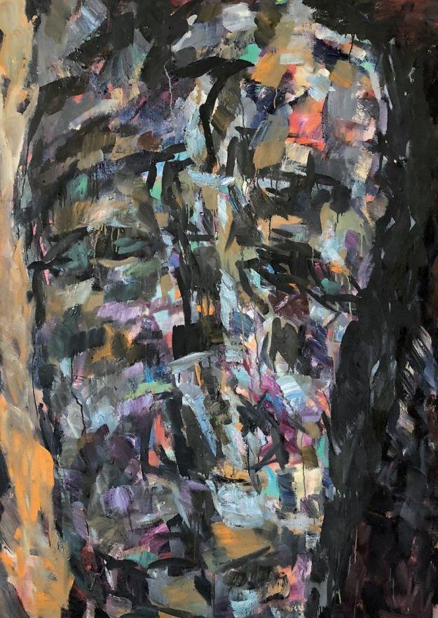 Bild eines Kopfes - Gemälde des Künstlers Marwan