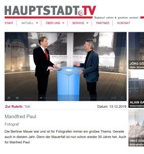 TV Interview mit Manfred Paul