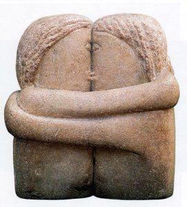le baiser Brancusi -Galerie 21 - Toulouse