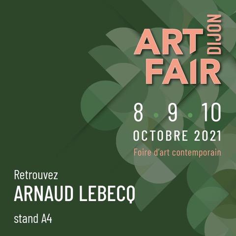 affiche art fair dijon salon international d'art contemporain - stand galerie arnaud lebecq