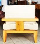 fauteuil cubble en bois linké