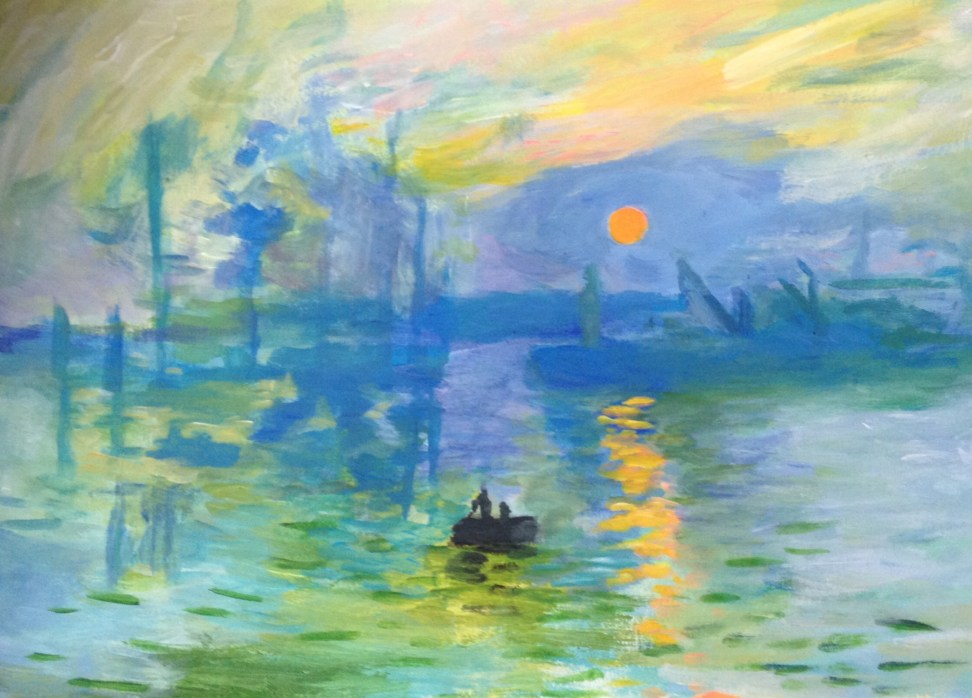 Toile n°8 Impression Soleil levant Claude Monet
