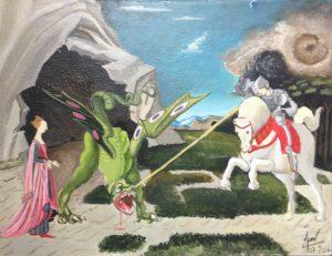 St Georges terrassant le dragon Paollo Ucello