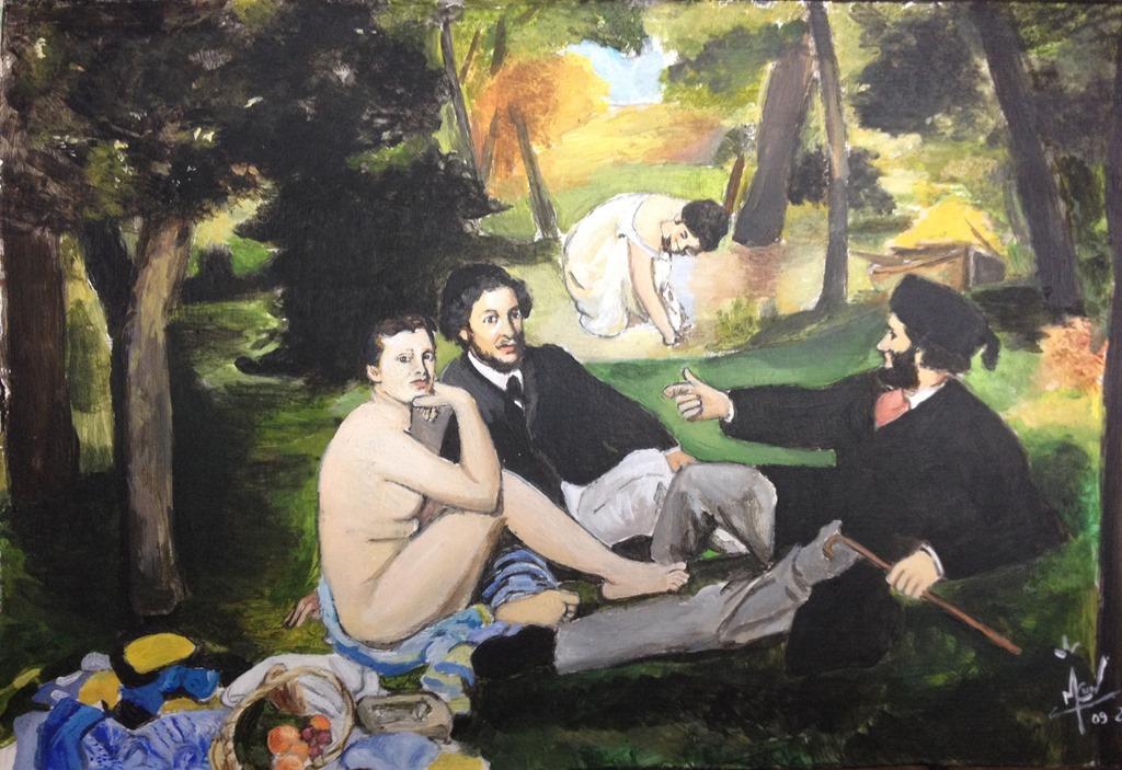 Toile N U00b011 Le D U00e9jeuner Sur L U0026 39 Herbe Edouard Manet