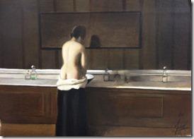 jeune femme a sa toilette Eugene Lomont