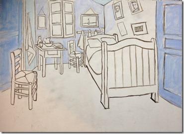 chambre à Arles phase 1
