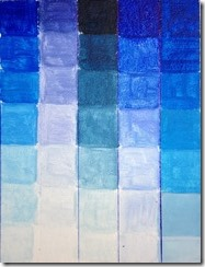 bleu nuancier