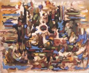 Détail tableau Lucien Beyer