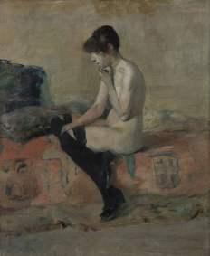 Toulouse Lautrec, Etude du nu (femme sur un divan), 1882