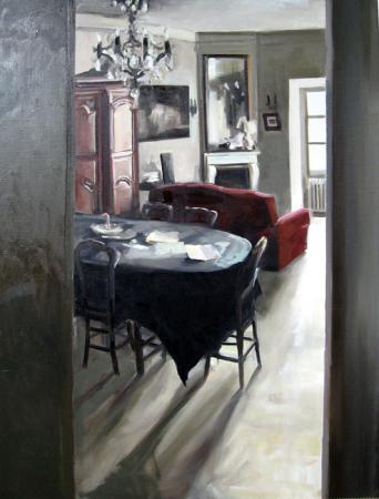 Christoff DEBUSSCHERE - la salle à manger 146x97 cms