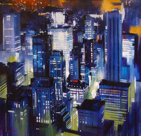 Yong-Man KWON - New-York by night 100x100