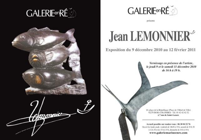 Jean Lemonnier - invitation 2010 jean Lemonnier