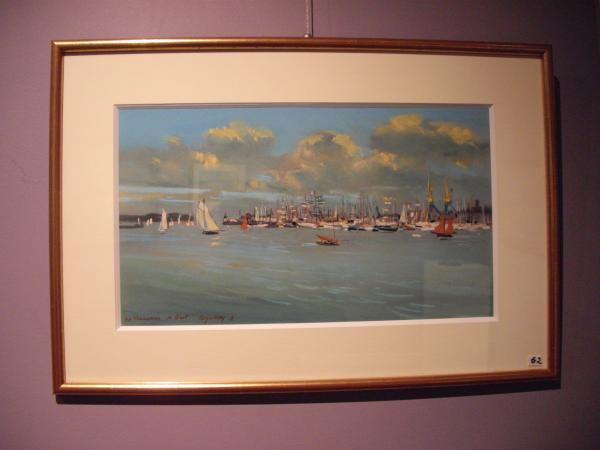 Jacques COQUILLAY - Le port de Brest 2012 60X40