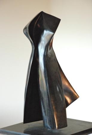 Nathalie MIQUEL AUBERT - Le tango patiné 31x30x66 cms