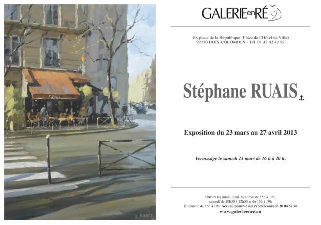 Stephane RUAIS - Carton 2013 verso