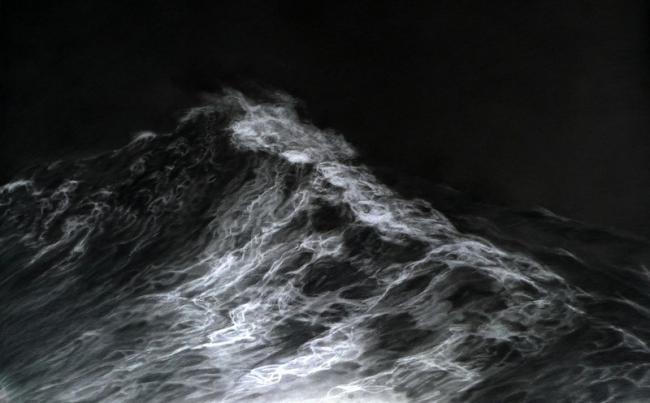 Franco SALAS-BORQUEZ - 2014 Le miroir du ciel 115x80
